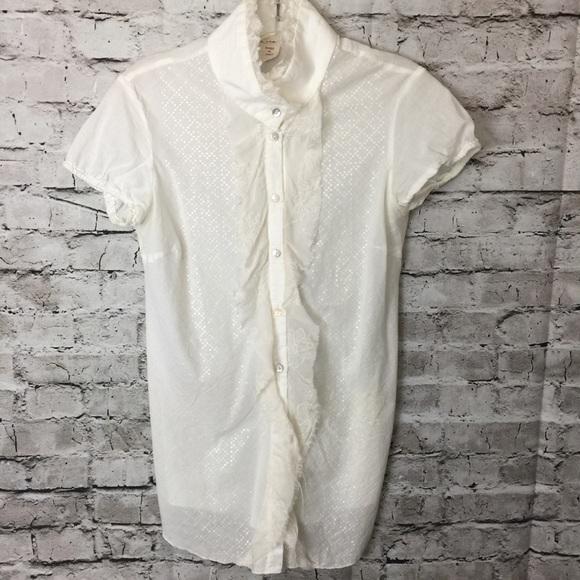 59636c12ce3324 Nolita NYC Cotton Silk High Neck Ruffle Blouse. M_5b316c3645c8b37c8a41fe50